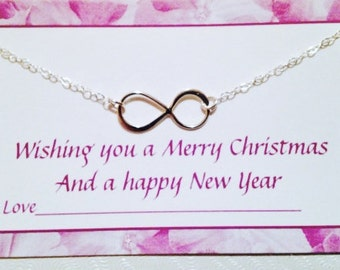 STERLING SILVER INFINITY necklace,infinity necklace,silver infinity charm necklace,mom sister friend best friend Christmas gift,choker