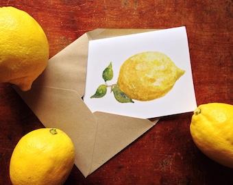 Folded Lemon Note Stationery