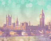 Clearance Sale - Dreamy London photograph, girly decor, Big Ben, surreal photography, travel photo, whimsical art - Daydream