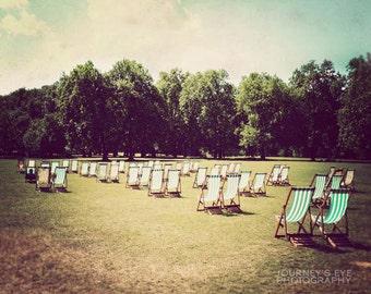 England photo, landscape photography, London photo print, London decor, retro photography - St. James Park