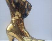 Vintage Brass Victorian Casting Boot