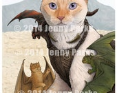 "Catleesi Mother of Cat Dragons 8.5""x11"" Print"