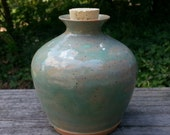 Custom - Stoneware pottery Cremation Urn - Wheel Thrown Clay - Keepsake Cremains Jar For Family Member or Pet Ashes -  HEARTH