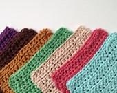 Handmade Washcloth - Crochet Dishcloth - Crochet Washcloth - Housewarming Gift - Crochet Dishrag - Cotton Dishcloth -Kitchen Scrubby