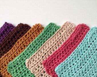 Handmade Washcloth - Crochet Dishcloth - Knit Pot holders - Crochet Baby Washcloth  - Crochet Dishrag - Cotton Dishcloth -Kitchen Scrubby