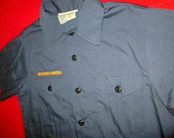 Vintage 70s 80s Boy Scouts Of America Uniform Shirt