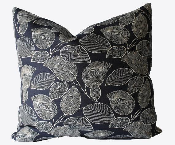 Navy Blue Decorative Bed Pillows: Decorative Outdoor Navy Blue Pillow Cover 18x18 20x20 22x22