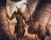 Abzan Beastmaster Print of Magic Card Illustration for Dragons of Tarkir by Scott Murphy