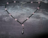Agatha Jewellery Necklace Black Pink