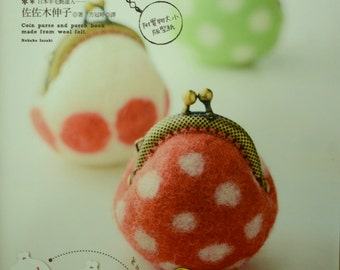 Cute Wool Coin Purse and Pouch - Japanese Craft Book (In Chinese)