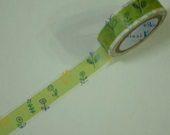 1 Roll of Shinzi Katoh Design Japanese Washi Masking Paper Tape - Flower