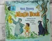 The Jungle Book. Walt Disney Children's Book. Circa 1967. Disneyana. Bedtime Story. Nursery Decor for Boys and Girls.
