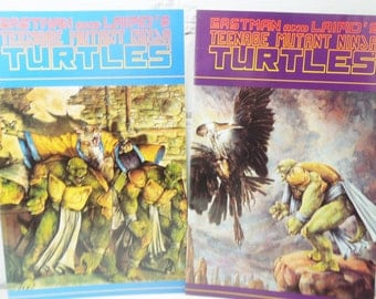 Teenage Ninja Mutant Turtles. Eastman and Laird Graphic Novels. Cowabunga Dudes. Volume One. Books 35 and 36. Mirage Publishing.