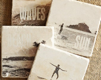 Surfer- Surfing, Surfer Gift, Beach Decor, Surf, Surfing Decor, Surfing, Beach House Gift, Coastal Decor, Beach House, Beach, Coaster