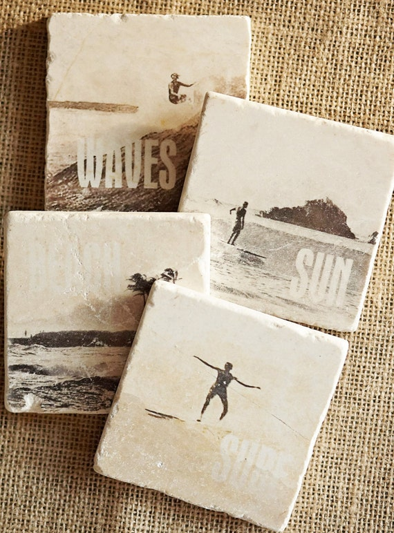 Surf Decor- Coaster, Surfer Gift, Surfer Decor, Surf Gift, Beach Decor, Beach Gift, Beach House Decor, Beach House Gift, Trivet, Stone, Tile