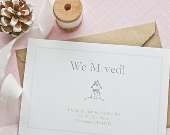 Personalized Moving Announcement - We Moved - Change of Address - New Home - New Apartment - Set of 10