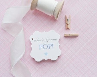 Baby Shower Popcorn Favor Tags-Baby Shower Favor Tag-Baby Shower favors-Popcorn Favors-Favors-Set of 40