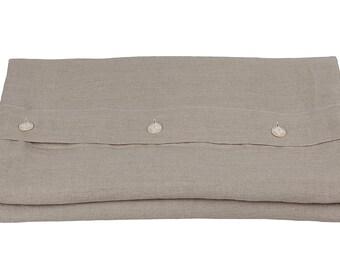 Linen DUVET COVER - natural color duvet - queen linen duvet - king linen duvet - flax color duvet - linen bedding queen - duvet cover king