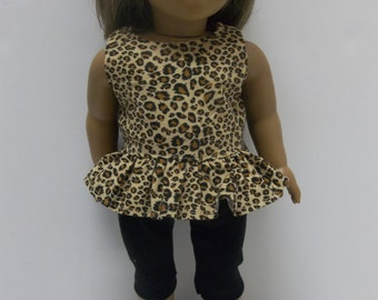 """Capri Outfit Animal Print For The American Girl Doll and All 18"""" Dolls, Our Generation, Madame Alexander,"""