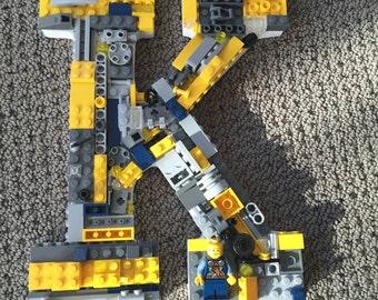 Custom wall letter, toy bricks,  K