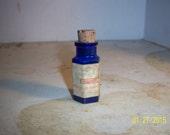 """1890's Hirst, Brooke & Hirst Leeds England Cobalt Blue Poison  Bottle Paper Label 2 1/4"""""""