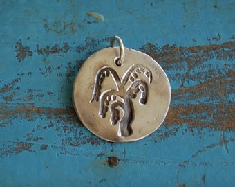Silver Weeping Willow Charm, Silver Weeping Willow Pendant,