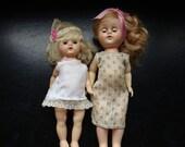 Little Mohair Hard Plastic Walker Sisters