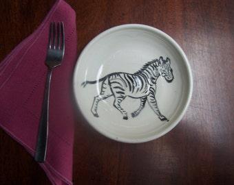 6 inch zebra bowl