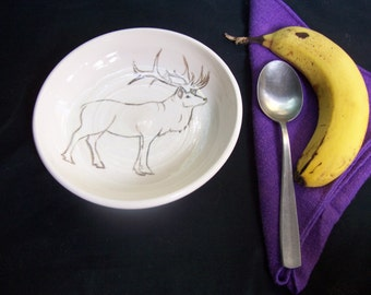 Elk cereal bowl