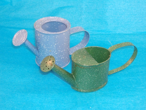 Set Of 2 Small Decorative Watering Can Planter By