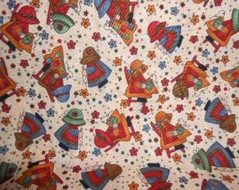 Sun Bonnet Sue Cotton Fabric-One Yard