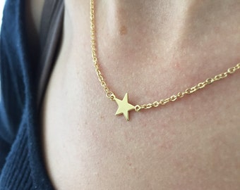 Tiny gold filled star necklace - Star necklace - Gold star necklace - Bridesmaid gift - Little star necklace - Small star necklace