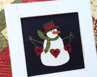 Heartfelt wool appliqué kit and pattern