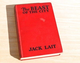 The Beast of the City 1932 by Jack Lait, Rare Vintage Photoplay edition starring Jean Harlow and Walter Huston