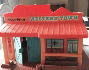 Vintage Fisher-Price Little People Western Town