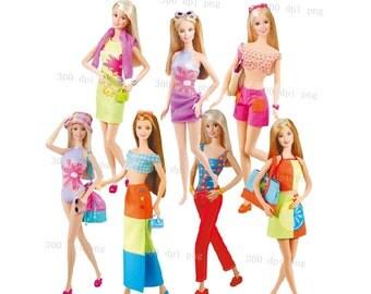 Clip Art Barbie Clip Art barbie clipart etsy digital png files clip art images instant download