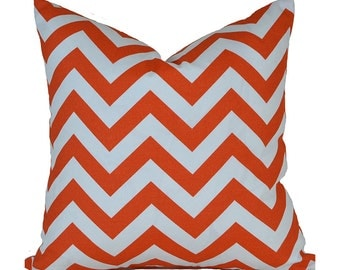 Outdoor Pillows Outdoor Pillow Covers Decorative Pillows ANY SIZE Pillow Cover Premier Prints Outdoor Zigzag Orange