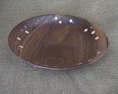 Walnut Dots Bowl Handmade