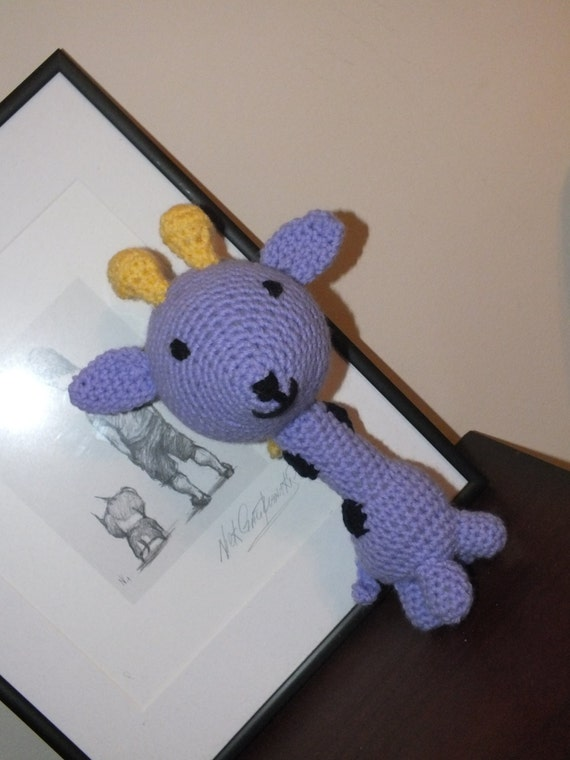 Cuddly Amigurumi Giraffe : Cute Cuddly Stuffed Toy Giraffe Safe Baby Toy Amigurumi