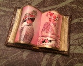 Victorian Ladies Open Book in Pink - Dollhouse Miniatures