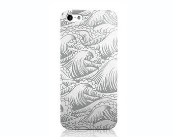 Grey Waves iPhone 4 case, iPhone 5 case, iPhone 5c case, iPhone 6 case, Nexus 5 case, LG G3 case, Galaxy S5 case