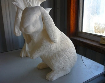 Standing Lop Earred Bunny Ready to Paint