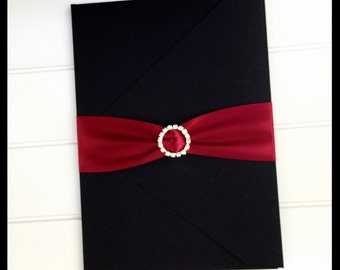 Wedding invitation , red and black invitation , wedding invitations , black invitation, red invitation