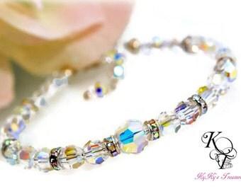 Swarovski Crystal Bracelet, Crystal Bracelet, Wedding Jewelry, Bridal Jewelry, Bridal Bracelet, Bridesmaid, Bridal Shower, Bridal Gift