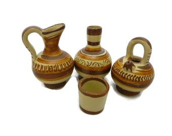 Pottery Set Southwest Design Water Pitchers Vessels