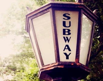 Subway Station Lamp at Central Park New York City - Home Decor Urban Photography