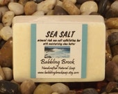 Sea Salt soap, handmade with natural ingredients, salt from the Dead Sea, exfoliating vegan soap, sustainable palm oil, shea butter, vegan
