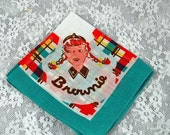 BLACK FRIDAY SALE Very Collectible Vintage Hankie Handkerchief - A Brownie (the organization) Hankie!!  Z-1