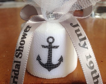25 Anchor Shower Favors, Only 1.75 Each,  Candle Favors, Wedding Favors,Anniversary Favors, Baptism , Holy Communition Favors
