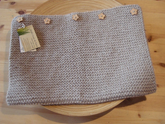 Baby blanket - pure new wool - light beige - natural baby - other colors made to order